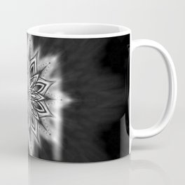 Black Ice Mandala Swirl Coffee Mug