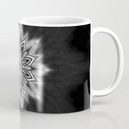 Black Ice Mandala Swirl Coffee Mug