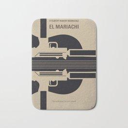 No445 My El mariachi minimal movie poster Bath Mat