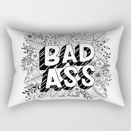 Badass Black And White Rectangular Pillow