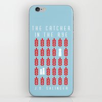 catcher in the rye iPhone & iPod Skins featuring The Catcher in the Rye by BaconFactory