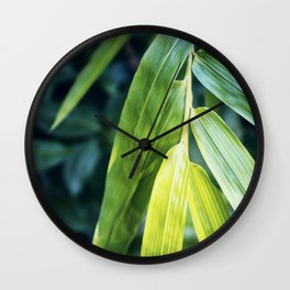 Bamboo Leaf Zen Poster Wall Clock