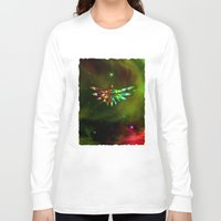 triforce Long Sleeve T-shirts featuring Zelda Triforce  by Inara