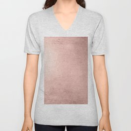 Blush Rose Gold Ombre Unisex V-Neck