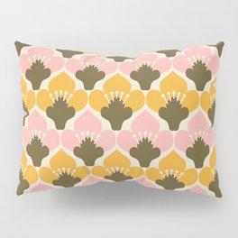 Yellow & Pink Flower Pattern Pillow Sham