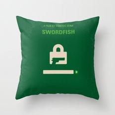No804 My SWORDFISH minimal movie poster Throw Pillow