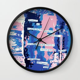 Cafe - Digitally manipulated painting Wall Clock