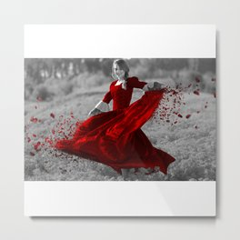 The Red Dance Metal Print