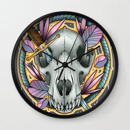 Wolf Skull by Kevin Thrun Wall Clock