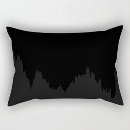Path of Brownian motion - dark - black and grey Rectangular Pillow