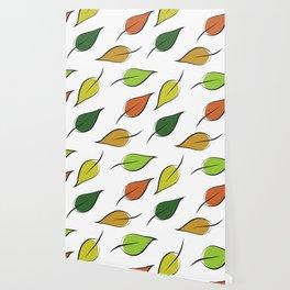 A Pattern of Falling Leaves Wallpaper