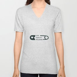 Great for all occassions Inclusion Tee Love Equality Inclusion Unisex V-Neck