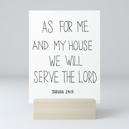 Serve the Lord Mini Art Print