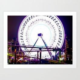 Ferris Wheel of Lights Art Print