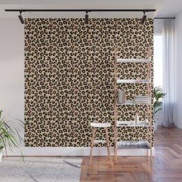 Leopard Print, Black, Brown, Rust and Tan Wall Mural