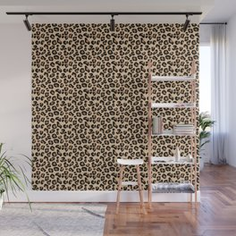 Leopard Print, Black, Brown, Rust and Tan Wall Mural