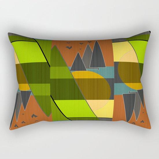 Abstraction.  Rectangular Pillow
