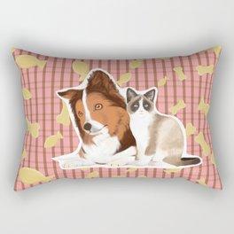 Can we eat now? Rectangular Pillow