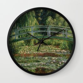"Claude Monet ""The Japanese Footbridge and the Water Lily Pool, Giverny"" Wall Clock"