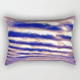 Rows of Clouds Rectangular Pillow