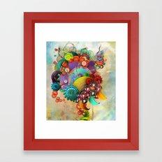 Flute Fruit Framed Art Print