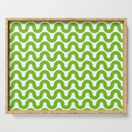 Wavy in Green Serving Tray