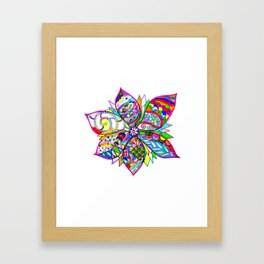 Crazy Flower Framed Art Print
