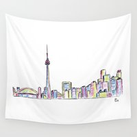 toronto Wall Tapestries featuring Toronto by Ursula Rodgers