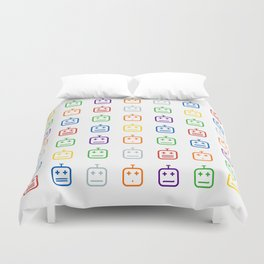Many Faces Duvet Cover