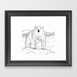 Artic Polar bear Framed Art Print