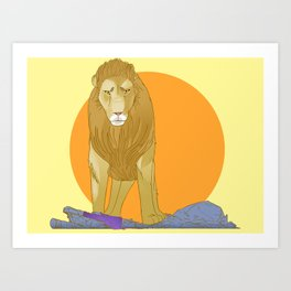 A Lion Untamed Art Print