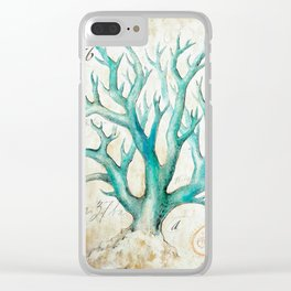 Blue Coral No. 2 Clear iPhone Case