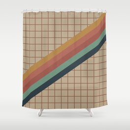 Old Video Cassette Palette Shower Curtain