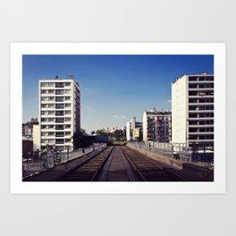 Viaduc sur le cours de Vincennes // Viaduct over Vincennes Art Print