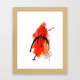 Retro  Chic Runway Dress 1 Framed Art Print