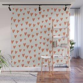 Hearts Hearts Hearts Wall Mural