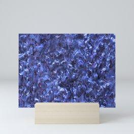 Abalone Shell   Paua Shell   Dark Blue Tint Mini Art Print