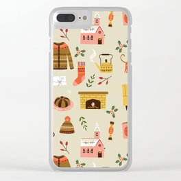 winter hygge Clear iPhone Case