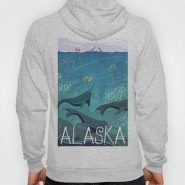 Alaska State Poster Hoody