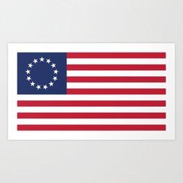 Betsy Ross USA flag Art Print