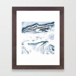 Marble fade Framed Art Print