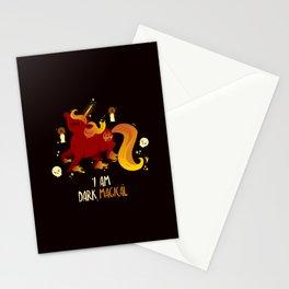 Dark Magic Unicorn Pony Stationery Cards