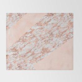 Massarossa rose gold marble - soft blush texture Throw Blanket