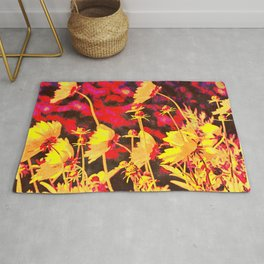Blowing In The Wind Floral Rug
