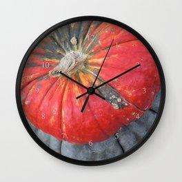 pumpkin pile Wall Clock