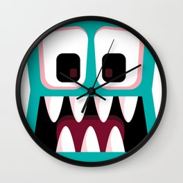 Bubble Beasts: Fang Flosser Wall Clock