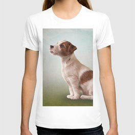 Jack Russell Terrier. Drawing, illustration funny dog T-shirt