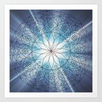 Mandala Burst Art Print