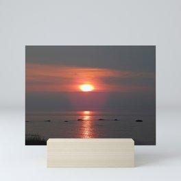 Ste-Anne-Des-Monts Sunset on the Sea Mini Art Print