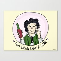 grantaire Canvas Prints featuring Too Grantaire 2 Care by AlyBee